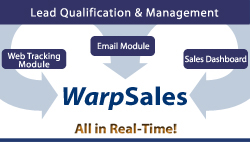 <I>Warp</I>Sales Solutions Overview for improving Inside Sales and Marketing effectiveness in lead generation