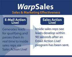 Email Action Live! Demand Generation solution that feeds directly into Sales Action Live! the Lead Generation tool for Inside Sales